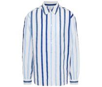 Talia Hemd aus Baumwoll-voile mit Streifen