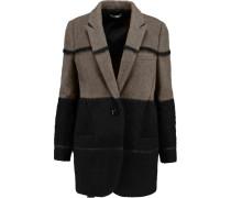 Graffiti Wool-blend Coat Schwarz