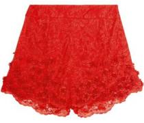Embellished lace shorts