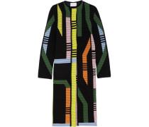 Track Ribbed Stretch Wool-blend Coat Mehrfarbig