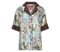 Bendis Printed Silk-satin Twill Shirt
