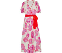 Breeze Printed Crinkled Silk-chiffon Maxi Wrap Dress