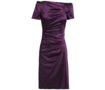 Noomi Ruched Duchesse-satin Dress