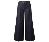Woman Ace Cropped High-rise Wide-leg Jeans Dark Denim