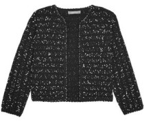 Cropped bouclé-tweed jacket