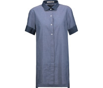 Capel Two-tone Cotton-chambray Shirt Indigo