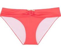 Low-rise embellished bikini briefs