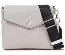 Grosgrain-trimmed Leather Shoulder Bag