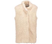 Axy Faux Shearling Vest Beige