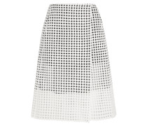Crocheted Cotton And Silk-organza Wrap Skirt Weiß