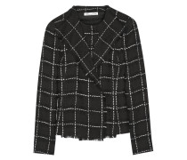 Checked Wool-tweed Jacket Schwarz