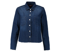 Frayed Denim Shirt Dunkler Denim