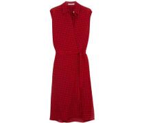 Plaid gauze wrap dress