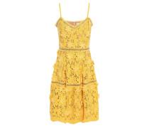 Floral-appliquéd Corded Lace Dress