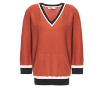 Metallic Cotton-blend Sweater
