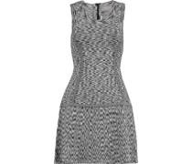 Stretch intarsia-knit dress