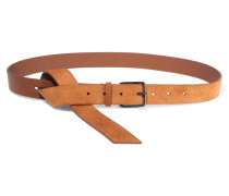 Leather And Suede Belt Braun