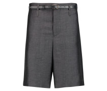 Kate Belted Mohair And Wool-blend Shorts Grau