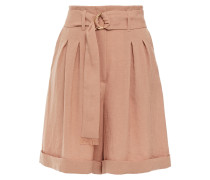 Colorado Belted Pleated Woven Shorts