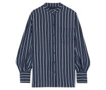 Striped Silk Crepe De Chine Shirt