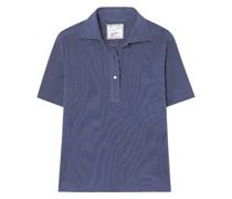 The Daphne Gestreiftes Poloshirt aus Baumwoll-piqué