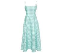 Gingham Cloqué Midi Dress