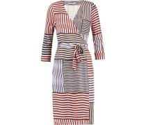 New Julian wrap-effect striped silk dress