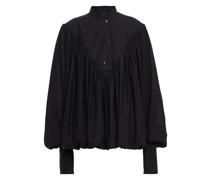 Geraffte Bluse aus Popeline aus Einer Baumwollmischung