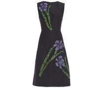 Embellished Silk-taffeta Midi Dress