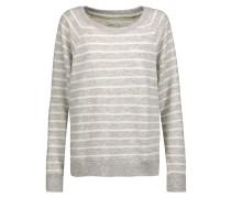 The Perfect Striped Cotton-blend Sweatshirt Grau