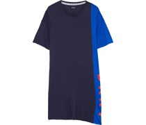 New York Energy Printed Two-tone Stretch-jersey Nightshirt