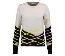 Jacquard-knit wool and cashmere-blend sweater