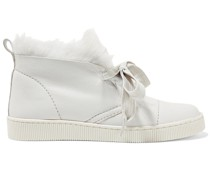 Parley Faux Fur-lined Nubuck High-top Sneakers