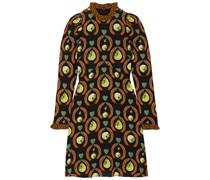 Rosella Bedrucktes Minikleid aus Stretch-jersey mit Rüschen