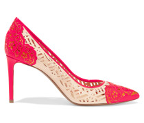 Angie Laser-cut Patent-leather Pumps Knallpink
