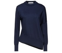 Asymmetric Cotton And Cashmere-blend Sweater