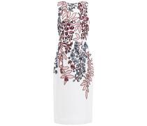 Embellished Embroidered Silk-organza Midi Dress