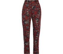 Janelle printed cotton tapered pants