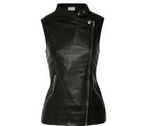 Viotlet Leather Vest Schwarz