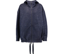 Jersey Hooded Jacket Navy