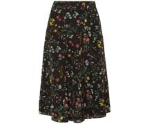 Floral-print Silk Crepe De Chine Skirt
