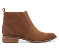 Riley Distressed Suede Ankle Boots Camel
