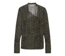 Rosalind leopard-print silk-georgette blouse