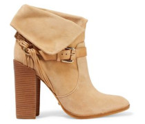 Arlete buckled braided suede ankle boots