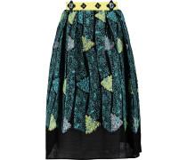 Kinetic Cloqué Skirt Türkis