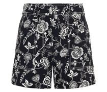 Shorts aus Twill aus Einer Baumwollmischung mit Floralem Print