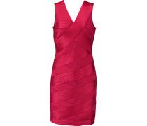 Satin And Stretch-jersey Mini Dress Signalrot