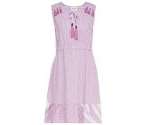 Veronica Minikleid aus Baumwoll-jacquard mit Troddeln