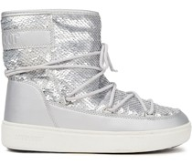 Pulse Sequined Metallic Faux Leather Snow Boots