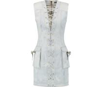 Lace-up Denim Mini Dress Himmelblau
